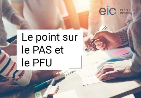 PAS et PFU : Le point